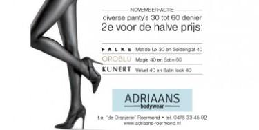 november panty-acties | Adriaans Speciaalzaken